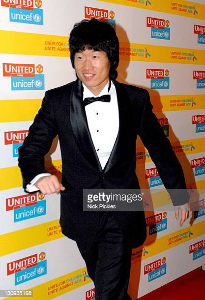 Park JiSung during United for UNICEF Gala Dinner Arrivals at Old Trafford Manchester United Football Club in Manchester Great Britain