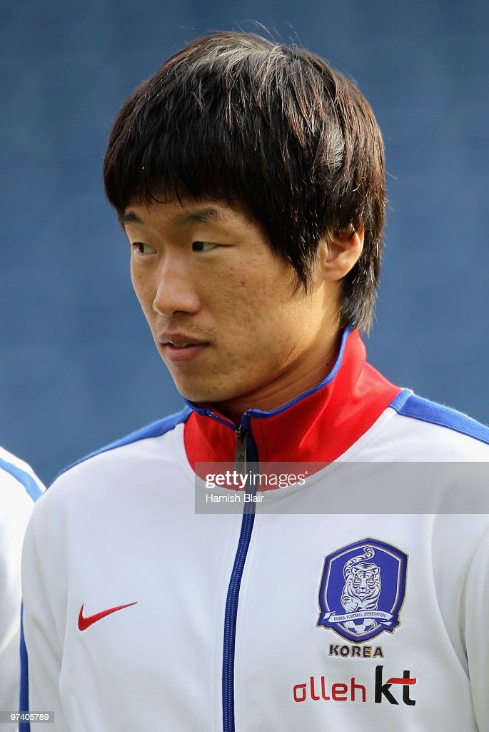 Park Ji-Sung of Korea looks on during the national anthems ahead of the International Friendly match between Ivory Coast and Republic of Korea played at Loftus Road on March 3, 2010 in London, England.