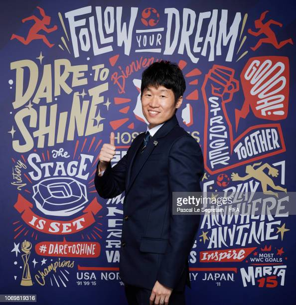 Park JiSung poses for a portrait during the FIFA Women's World Cup France 2019 Draw at La Seine Musicale on December 8 2018 in Paris France