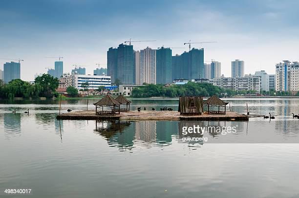 park lake - wuhan stock-fotos und bilder