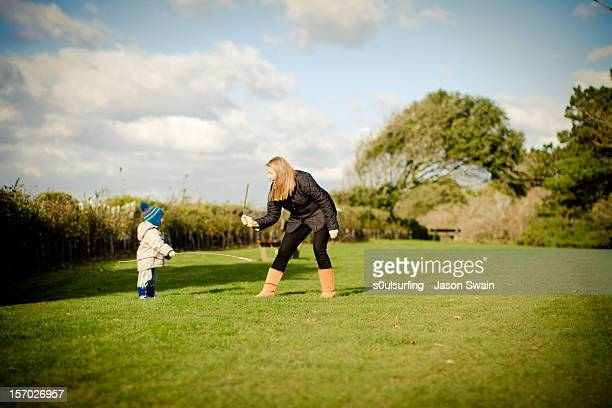 park life - sword fight with mum - s0ulsurfing stock pictures, royalty-free photos & images