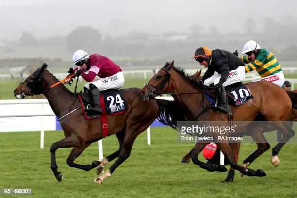 Park Paddocks ridden by jockey Jack Kennedy on the way to winning the JLT Handicap Hurdle during day three of the Punchestown Festival 2018 at...