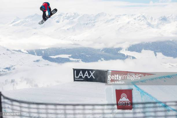 GB Park Pipe freestyle snowboarder Matt McCormick wins the mens snowboard slopestyle competition at The British Snowboard Championships on the 5th...