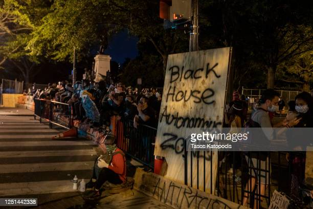 S Park Police keep protesters away after they attempted to pull down the statue of Andrew Jackson in Lafayette Square near the White House on June 22...