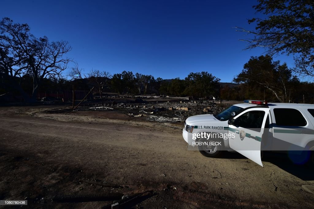 US-FIRE-CALIFORNIA-ENVIORNMENT-WEATHER : News Photo