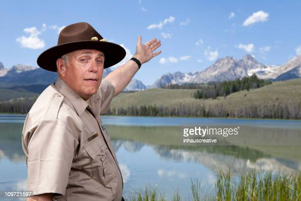 Park Ranger showing the great outdoors