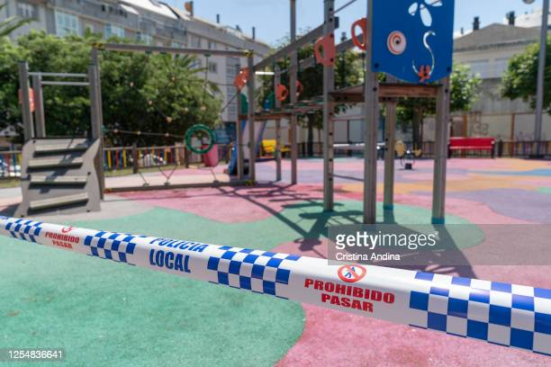 Park sealed due to the resurgence of the coronavirus on July 7 2020 in Burela Lugo Spain The region of A Mariña in Lugo province was returned to...