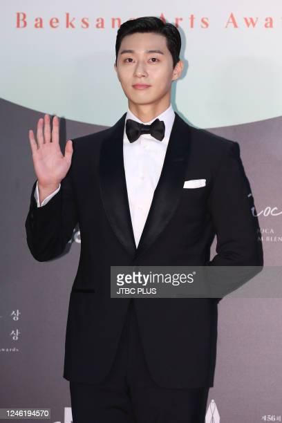 Park SeoJoon attends the 56th Baeksang Arts Awards at Kintex on June 05 2020 in Goyang South Korea