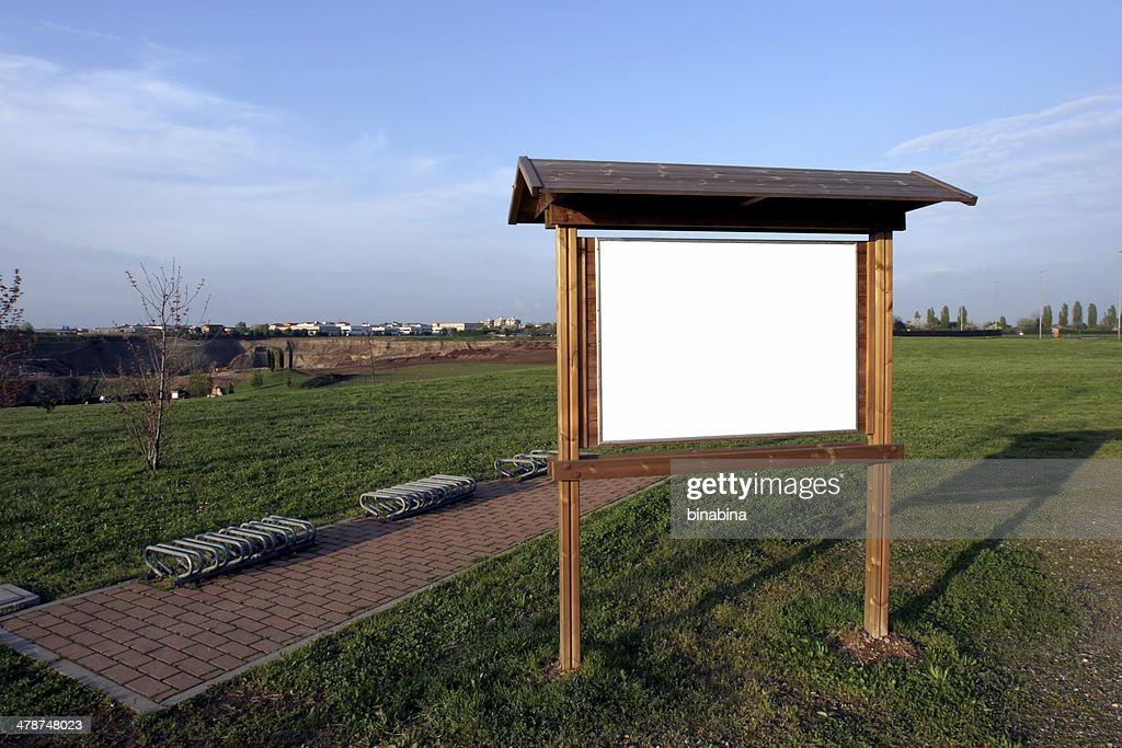 park sign with space for copy : Stock Photo