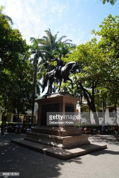 Park Simon Bolivar with Statue, Cartagena, Colombia