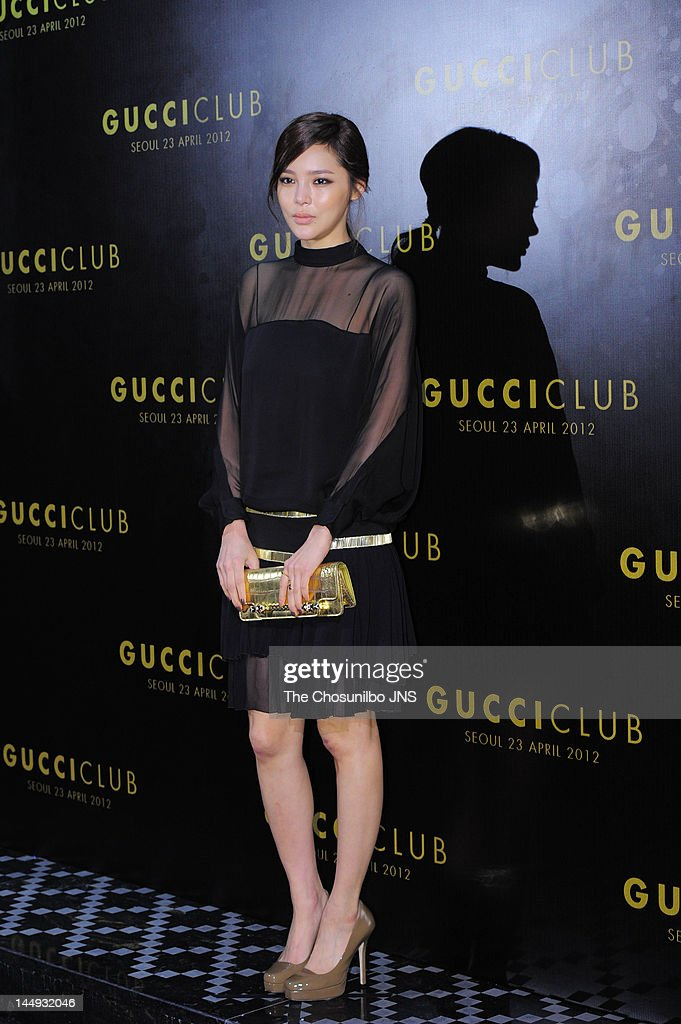 Park Si-Yeon attends the 'Gucci Club' Party for celebrating the renewal of Gucci Seoul Flagship Store on April 23, 2012 in Seoul, South Korea.