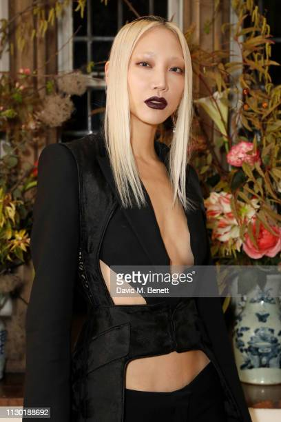 Park SooJoo attends the FrancoisHenri Pinault and Sarah Burton dinner In celebration of the Alexander McQueen Old Bond Street Flagship Store on...
