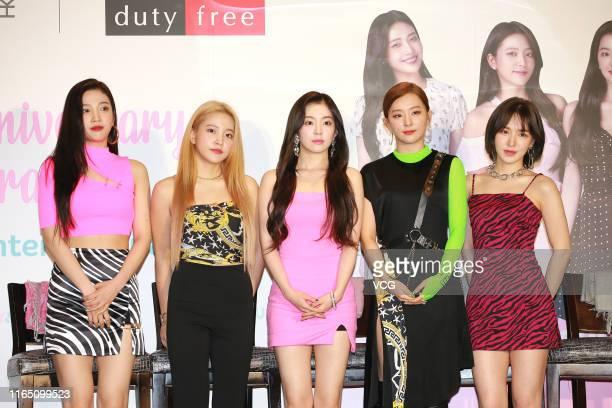 Park Sooyoung Kim Yerim Bae Joohyun Kang Seulgi and Son Seungwan of South Korean girl group Red Velvet perform on July 30 2019 in Hong Kong China