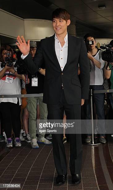 Park TaeHwan attends Han HyeJin and Ki SungYueng wedding at Intercontinental hotel on July 1 2013 in Seoul South Korea