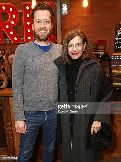 Park Theatre Artistic Director Jez Bond and Belinda Lang attend the press night performance of 4000 Days at The Park Theatre on January 19 2016 in...