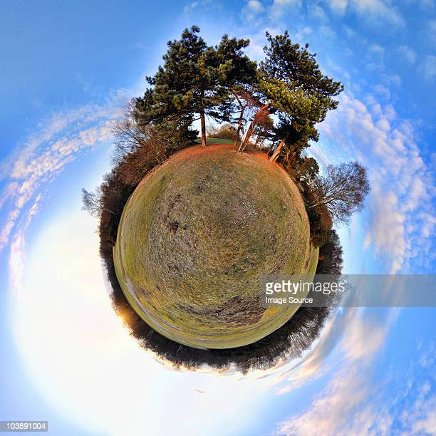 Park with little planet effect