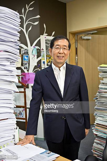 Park Won Soon mayor of Seoul poses for a photograph in his office at City Hall in Seoul South Korea on Tuesday Aug 27 2013 South Korea should embrace...