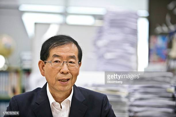 Park Won Soon mayor of Seoul speaks during an interview in his office at City Hall in Seoul South Korea on Tuesday Aug 27 2013 South Korea should...