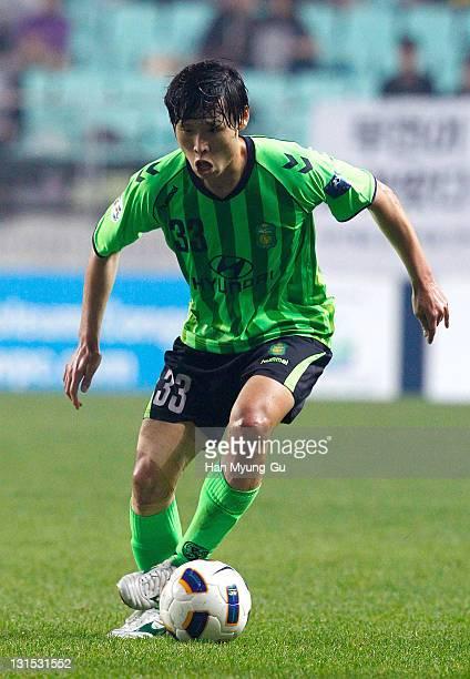 Park WonJae of Jeonbuk Hyundai Mortors in action during the AFC Champions League Final Match between Jeonbuk Hyundai Mortors of South Korea and Al...