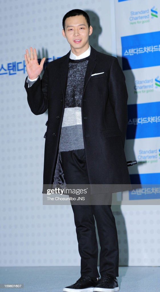 Park Yoo-Chun attends 'Nice Voice Festival' By Standard Chartered Bank Korea at COEX on January 19, 2013 in Seoul, South Korea.