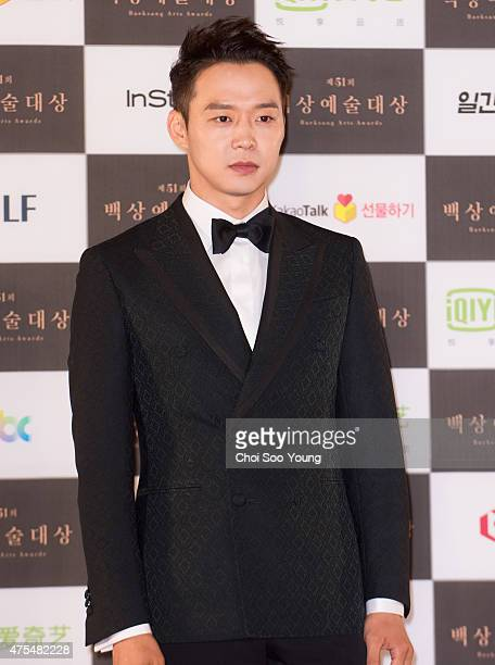 Park YooChun of JYJ attends the 51st Baeksang Arts Awards at Grand Peace Palace in Kyung Hee University on May 26 2015 in Seoul South Korea