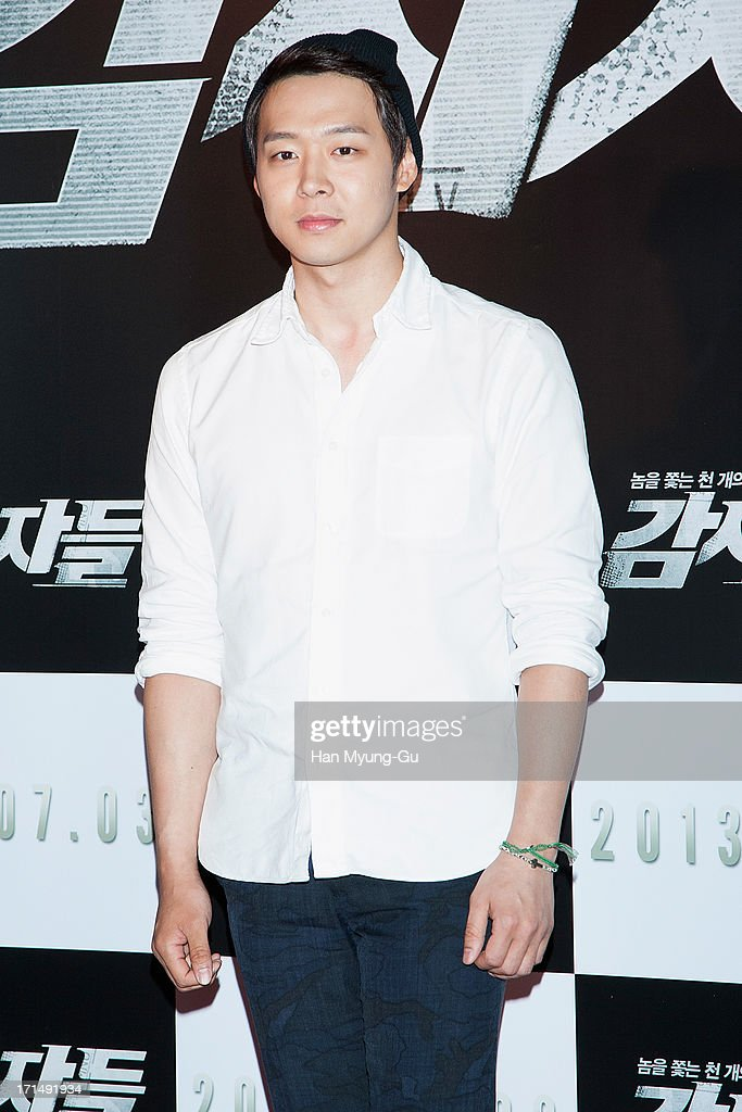 Park Yoo-Chun of South Korean boy band JYJ attends during the 'Cold Eyes' VIP screening at Coex Mega Box on June 25, 2013 in Seoul, South Korea. The film will open on July 03 in South Korea.