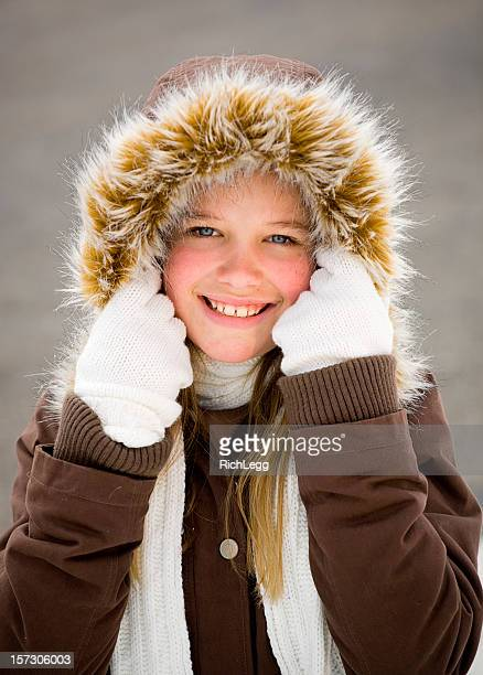 parka girl - parka coat stock pictures, royalty-free photos & images