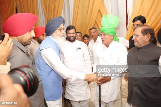 Parkash Singh Badal Minister of Consumer Affairs Food and Public Distribution Ram Vilas Paswan former Haryana Chief Minister Om Prakash Chautala and...