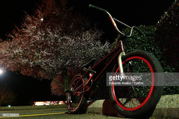 Parked Bmx Bicycle At Night