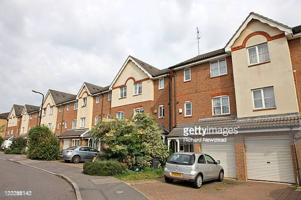 Parked car and homes, UK