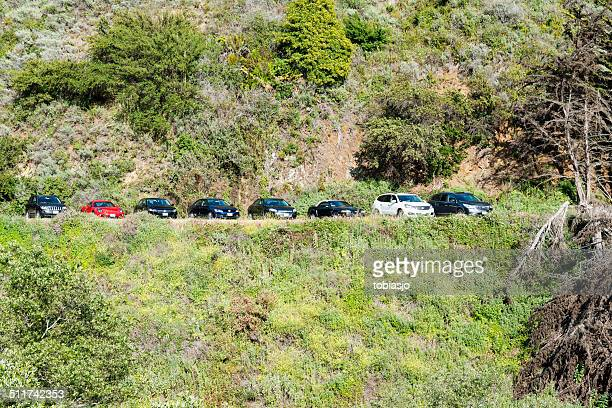 parked cars - mcway falls stock pictures, royalty-free photos & images