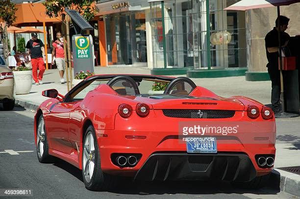 estacionados ferrari em hollywood - hollywood califórnia - fotografias e filmes do acervo