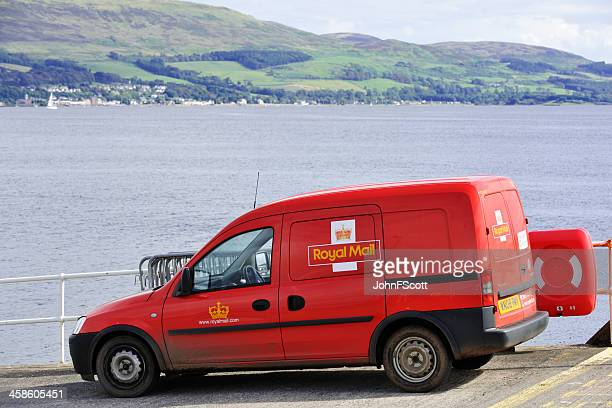 Parked Royal Mail van waiting for a ferry