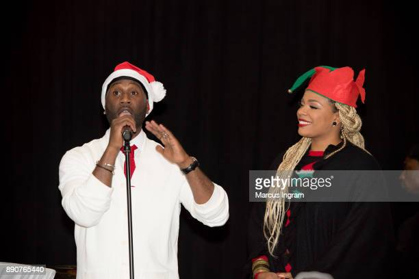 Parker and Syleena Johnson onstage during the '5th Annual Caroling with Q Parker and Friends' at Atlanta Marriott Buckhead on December 11 2017 in...