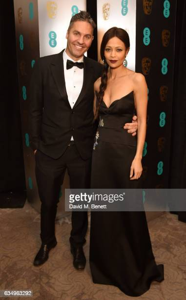 Parker and Thandie Newton attend the official after party dinner for the EE British Academy Film Awards at Grosvenor House on February 12 2017 in...