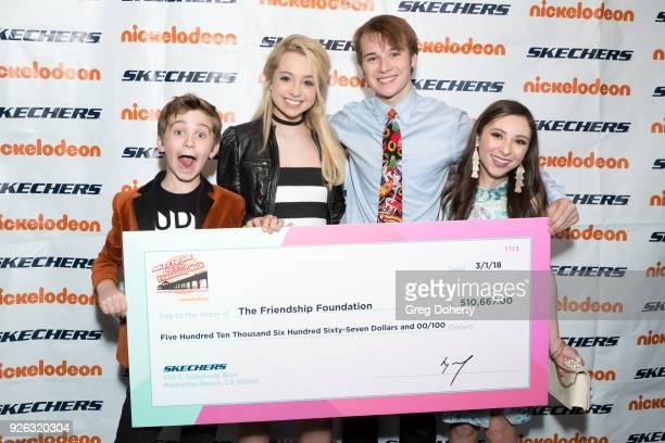 Parker Bates Kennedy Madison CJ Valleroy and Ava Cantrell attend the 9th Annual SKECHERS Pier To Pier Friendship Walk Evening Of Celebration And...