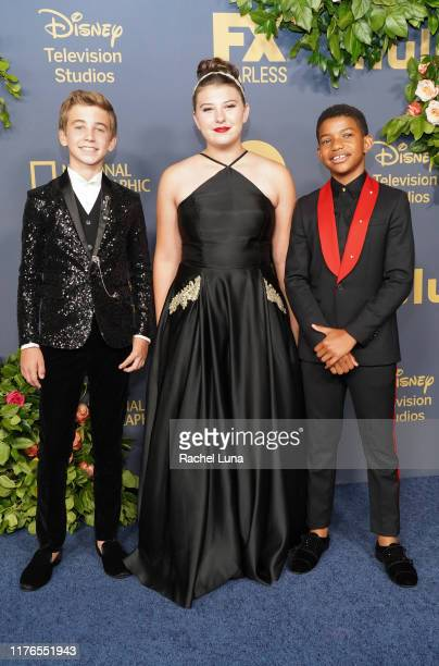 Parker Bates Mackenzie Hancsicsak and Lonnie Chavis attend the Walt Disney Television Emmy Party on September 22 2019 in Los Angeles California