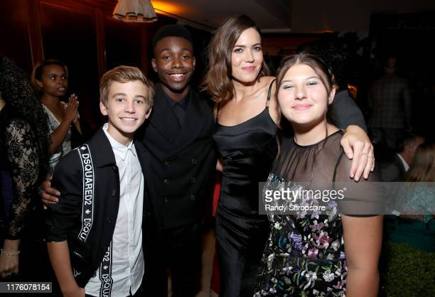 Parker Bates Niles Fitch Mandy Moore and Mackenzie Hancsicsak attend the 2019 PreEmmy Party hosted by Entertainment Weekly and L'Oreal Paris at...