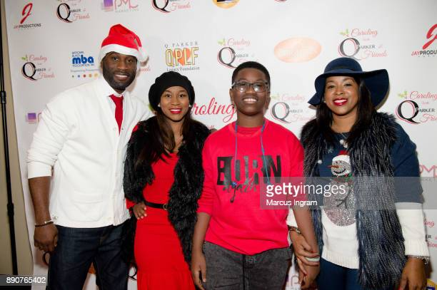 Q Parker Kahdijiha Rowe Quinnes Parker Jr and Sharlinda Parker attend the '5th Annual Caroling with Q Parker and Friends' at Atlanta Marriott...