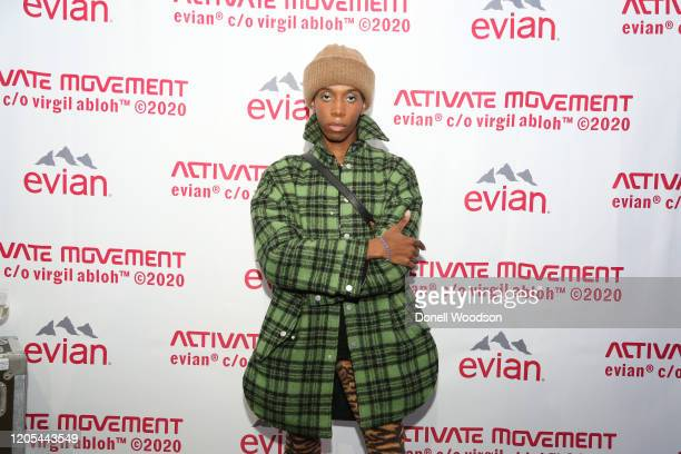 Parker Kit Hill attends the Evian Virgil Abloh Collaboration party at Milk Studios on February 10 2020 in New York City
