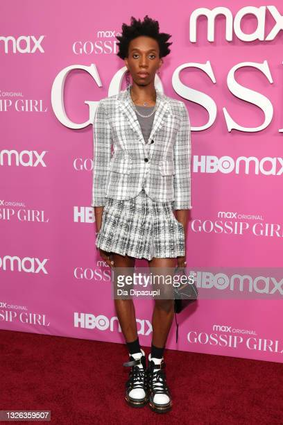 """Parker Kit Hill attends the """"Gossip Girl"""" New York Premiere at Spring Studios on June 30, 2021 in New York City."""