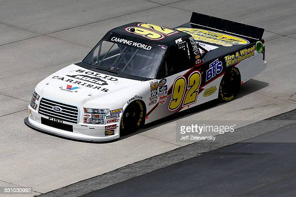 Parker Kligerman driver of the BTS Tire/Solid Rock Carriers/AdvncAutoPrts Ford practices for the NASCAR Camping World Truck Series at Dover...