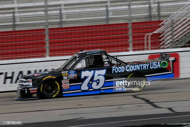 Parker Kligerman Henderson Motorsports Chevrolet Silverado Food Country USA during practice for the Ultimate Tailgating 200 NASCAR Gander Outdoors...