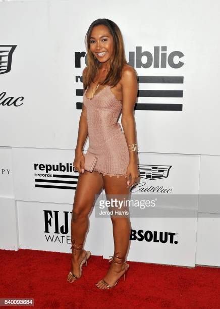 Parker McKenna Posey attends the VMA after party hosted by Republic Records and Cadillac at TAO restaurant at the Dream Hotel on August 27 2017 in...