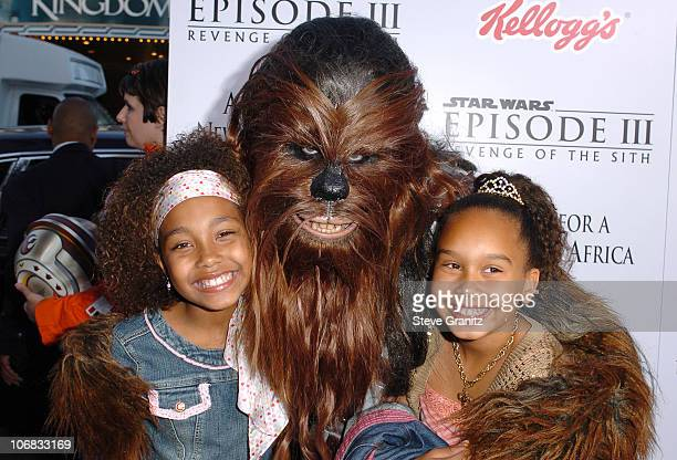 Parker McKenna Posey Chewbacca and Maya Mchenry during 'Star Wars Episode III Revenge of The Sith' Premiere to Benefit Artists for a New South Africa...