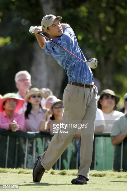 Parker McLachlin in action during the Sony Open on January 15 held at Waialae Country Club in Honolulu Hawaii David Toms shot 19 under to win the...