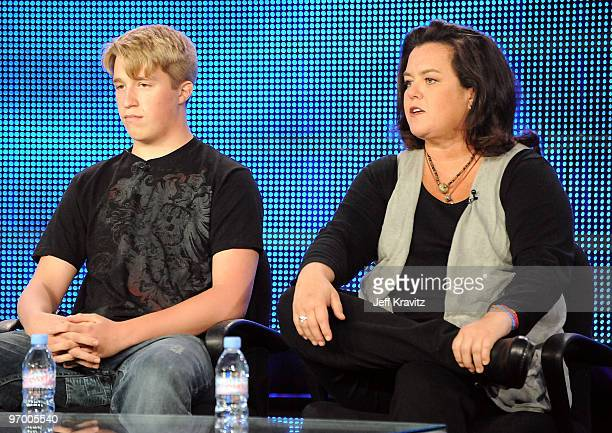 """Parker O'Donnell and actress Rosie O'Donnell of """"A Family Is A Family"""" speak during the HBO portion of the 2010 Television Critics Association Press..."""