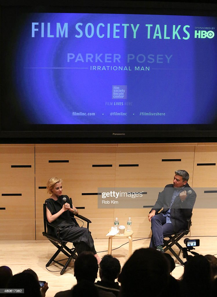 Parker Posey (L) and moderator Eugene Hernandez attend 2015 Film Society of Lincoln Center Summer Talks with Parker Posey event at Elinor Bunin Munroe Film Center on July 13, 2015 in New York City.