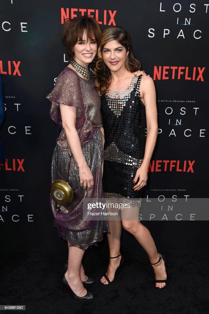 Parker Posey (L) and Selma Blair attend the premiere of Netflix's 'Lost In Space' Season 1 at The Cinerama Dome on April 9, 2018 in Los Angeles, California.