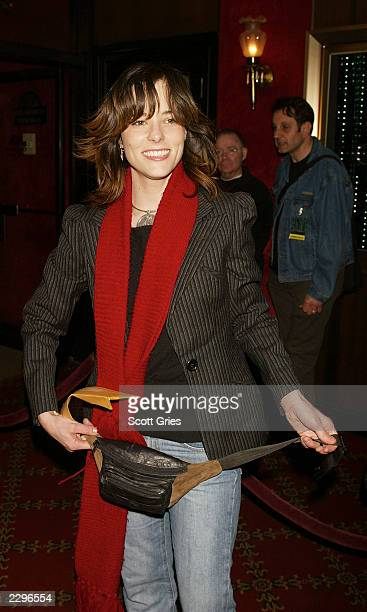 Parker Posey arrives at the New York premiere of The Matrix Reloaded May 13 2003 at the Ziegfeld Theater in New York City